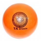 Мяч для художественной гимнастики с блестками 150 мм (цвет в ассортименте)