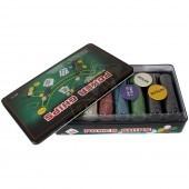 Набор для игры в покер в коробке на 300 фишек