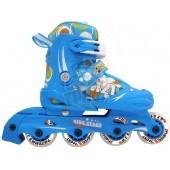 Роликовые коньки раздвижные Vimpex Sport (голубой)