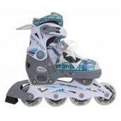 Роликовые коньки раздвижные Vimpex Sport (синий)