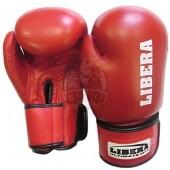 Перчатки боксерские Libera Profi Aiba кожа (красный)