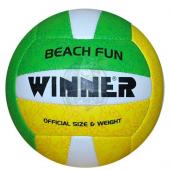 Мяч для пляжного волейбола любительский Winner Beach Fun (зеленый/желтый)