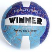 Мяч для пляжного волейбола любительский Winner Beach Fun (синий/голубой)