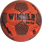 Мяч футбольный тренировочный Winner Street Cup №5 (красный/черный)