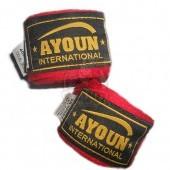 Бинт боксерский Ayoun 3,0 м (красный)