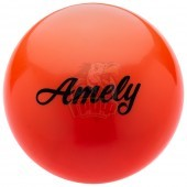 Мяч для художественной гимнастики Amely 190 мм (оранжевый)