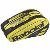 Чехол-сумка Babolat Pure Aero на 12 ракеток (черный/желтый)