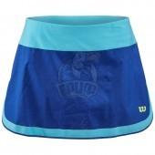Юбка теннисная женская Wilson UWII Perf 12.5 Women (синий/голубой)