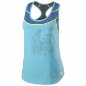 Майка спортивная женская Wilson UWII Hybrid Tank Women (синий/голубой)