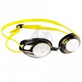 Очки для плавания тренировочные Mad Wave Honey Mirror (желтый)