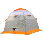 Палатка зимняя Лотос 3 (оранжевый/белый/серый)