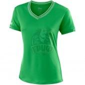 Футболка спортивная женская Wilson Training V-Neck Tee Women (зеленый)