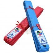 Пояс каратэ Arawaza Japanese Style Kata Light Blue WKF 100% хлопок (красный)