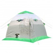 Палатка зимняя Лотос 3 (салатовый/белый/серый)