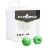 Беруши антиаллергенные Mad Wave Waxball (зеленый)