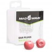 Беруши антиаллергенные Mad Wave Waxball (красный)
