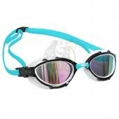Очки для плавания на открытой воде Mad Wave Triathlon Rainbow (голубой)