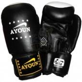 Перчатки боксерские Ayoun ПВХ (черный)