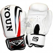Перчатки боксерские Ayoun кожа (белый)