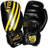 Перчатки боксерские Ayoun AD ПВХ (черный)