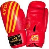 Перчатки боксерские Ayoun AD ПВХ (красный)