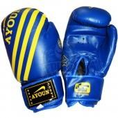 Перчатки боксерские Ayoun AD ПВХ (синий)