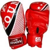 Перчатки боксерские Ayoun DX ПВХ (красный)