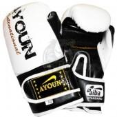 Перчатки боксерские Ayoun DX ПВХ (белый)