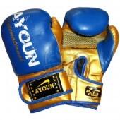 Перчатки боксерские Ayoun DX ПВХ (синий)