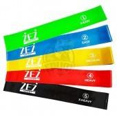 Набор эспандеров из 5-ти резиновых петель ZEZ Sport