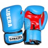 Перчатки боксерские Libera ПУ (синий)