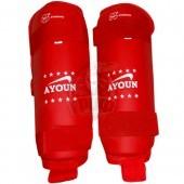 Защита голени для единоборств Ayoun (красный)