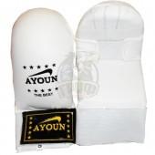 Перчатки (накладки) каратэ Ayoun ПВХ (белый)
