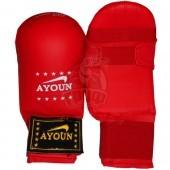 Перчатки каратэ Ayoun ПВХ (красный)