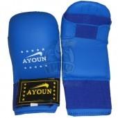 Перчатки каратэ Ayoun ПВХ (синий)