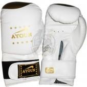 Перчатки для кикбоксинга Ayoun ПВХ (белый)