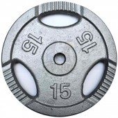 Диск 15 кг железный Ø26 мм