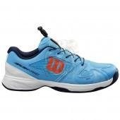 Кроссовки теннисные детские Wilson Rush Pro JR QL (голубой)