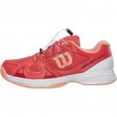 Кроссовки теннисные детские Wilson Rush Pro JR QL (розовый)
