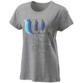 Футболка спортивная женская Wilson Blur W Tech Tee Women (серый)