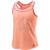 Футболка спортивная для девочек Wilson Competition Tank Girl (розовый)