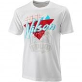 Футболка спортивная мужская Wilson Nostalgia Tech Tee Men (белый)