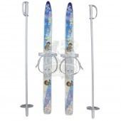 Комплект детских лыж Олимпик ''Лыжики-Пыжики'' 75 см (лыжи+палки+крепление)