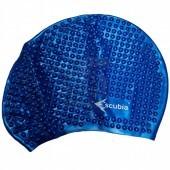 Шапочка для плавания Escubia Cuffia Bubble (синий)