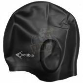 Шапочка для плавания Escubia Cuffia Ear Gard (черный)