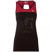 Майка спортивная женская Asics Loose Strappy Tank (черный/красный)