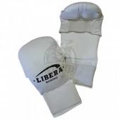 Перчатки каратэ Libera ПУ (белый)