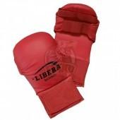 Перчатки каратэ Libera ПУ (красный)