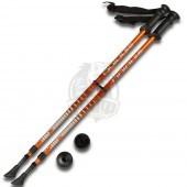Палки для скандинавской ходьбы телескопические Indigo 85-135 см (оранжевый)