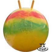 Мяч-попрыгун детский Arpax с рожками 45 см (радужный)